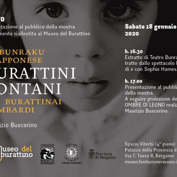 """Mostra fotografica """"BURATTINI LONTANI. Il Bunraku giapponese e i burattinai lombardi"""" di Maurizio Buscarino"""
